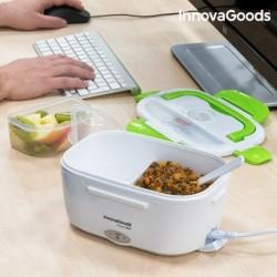 boîte déjeuner électrique innovagoods 40w blanche verte l'ouverture