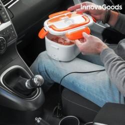 boîte déjeuner électrique pour voitures innovagoods blanche orange