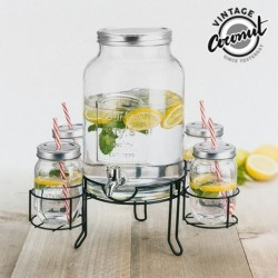 distributeur de boissons 4 verres vintage voconut parfait pour vos repas