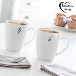 tasses you&me romantic items set de 2