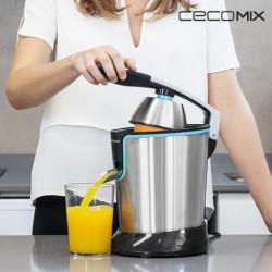 presse agrumes électrique à levier cecomix adjust black 4077 acier élégant dans votre cuisine