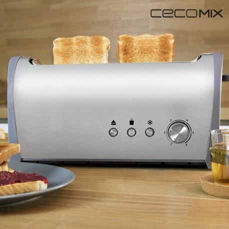 Grille-Pain Cecomix Steel 1L 3036 1000W pratique et élégant