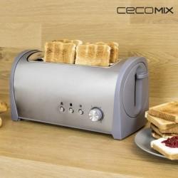 Grille-Pain Cecomix Steel 2L 3037 1400W pratique et élégant