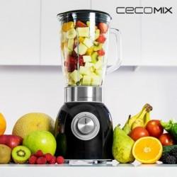 mixeur en verre cecomix titanium black 4060 élégant
