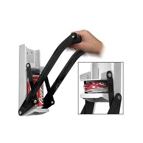 presse canette avec décapsuleur facile d'utilisation