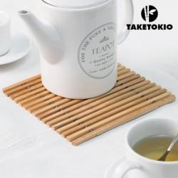 dessous de plat flexible en bambou taketokio élégant sur votre table