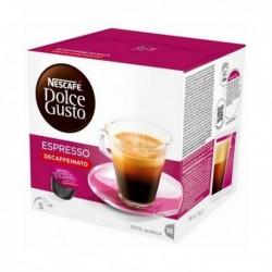 capsules de café avec étui nescafé dolce gusto 60658 espresso decaffeinato 16 pièces