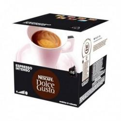 capsules de café avec étui nescafé dolce gusto 26406 espresso intenso 16 pièces