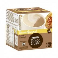 capsulles de café avec étui nescafé dolce gusto 65835 au lait 16 pièces