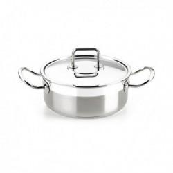 casserole avec couvercle bra a340353 20cm acier inoxydable