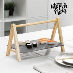 plateau en ardoise avec chevalet atopoir noir élégant sur votre table