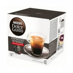 capsules de café avec étui nescafé dolce gusto 60924 espresso intenso decaffeinato 16 pièces