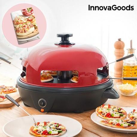 Four pour Mini Pizzas avec Livre de Recettes Presto ! InnovaGoods 700W Rouge Noir pratique, élégant et innovant