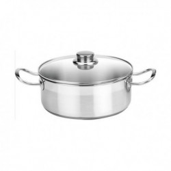 casserole avec couvercle en verre balay 3cc0024x 24cm acier inoxydable