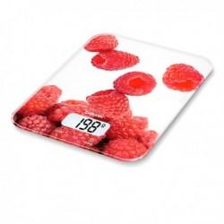 Balance de cuisine numérique Beurer KS 19 berry 5 Kg Blanc Rouge pratique
