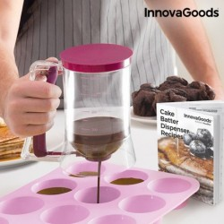 Carafe Distributrice de Pâte à Pâtisserie avec Livre de Recettes InnovaGoods fonctionnelle