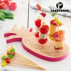 ensemble en bambou pour tapas ananas taketokio pour faire de jolies présentations