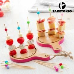 Set de Bambou pour Apéritif Mini Planches TakeTokio (16 Pièces) élégant