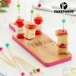 ensemble en bambou pour tapas plateau taketokio élégant sur votre table
