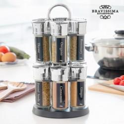 étagère à épices avec 12 épices bravissima kitchen élégant dans votre cuisine