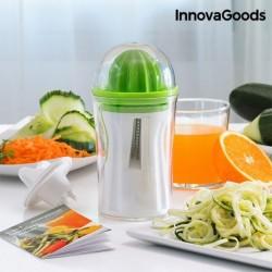 Coupe-Légumes et Presse-Agrumes 4 en 1 avec Livre de Recette InnovaGoods élégant et innovant