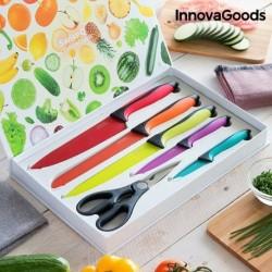 ensemble de couteaux en céramique et ciseaux swiss q fashion innovagoods dans son coffret