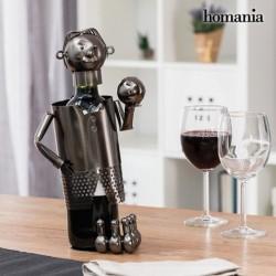 porte bouteilles métallique joueur de bowling homania élégant sur votre table