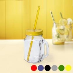 Carafe avec Couvercle et Paille (500 ml) 145494 différents coloris