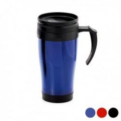 tasse avec couvercle 450ml bleue