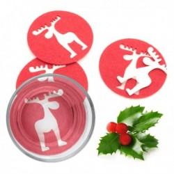 Dessous de verre Noël Renne (4 pièces) élégant