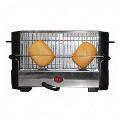 grille pain comelec tp 7713 7714 800w noir acier inoxydable
