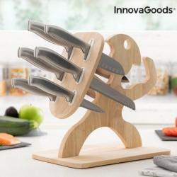 Jeu de couteaux avec support en bois Spartan Innovagoods (7 pièces) élégant