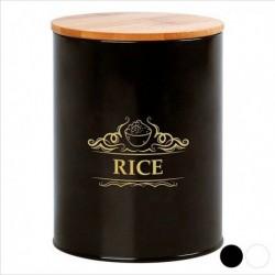 Boîte en métal Rice 110968 noire pratique
