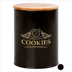 Boîte en métal Cookies 110937 noire élégante