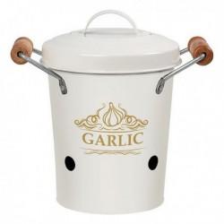 Boîte en métal Garlic Blanc ail 111316 pratique et élégante