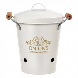 Boîte en métal Oignons blanc 111309 pratique et élégante