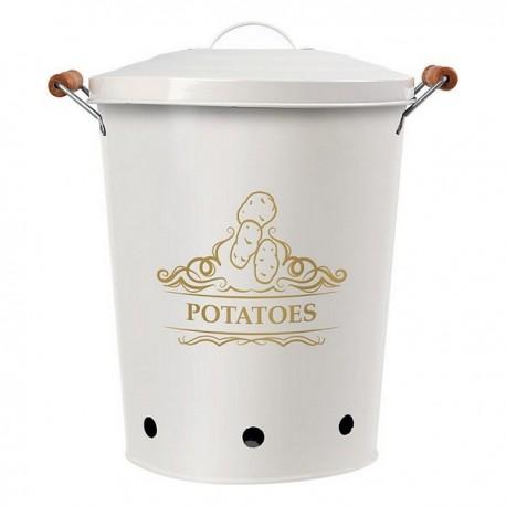 Boîte en métal Potatoes Blanc 111279 pratique et élégante