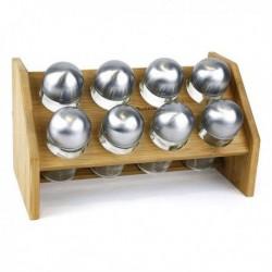 Arbre à épices en bambou Quttin (8 pièces) (25 x 14.5 x 14.5 cm)