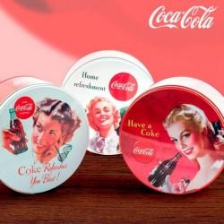 Boîte vintage ronde et en métal coca cola pour éblouir vos amis