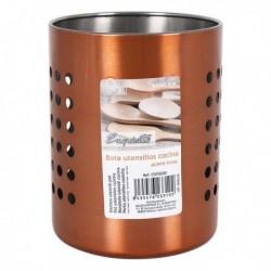 Pot pour ustensiles de cuisine Exquisite acier inoxydable (10 x 13 cm)