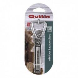 Ouvre-bouteille avec tire-bouchon Quttin (12x3.5x1.5cm) pratique