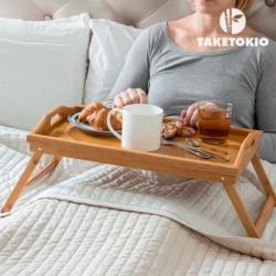 Plateau petit déjeuner au lit bambou taketokio pour un bon petit déjeuner au lit