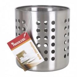 Pot pour ustensiles de cuisine Privilege Acier inoxydable Rond (12 x 12 x 13 cm)