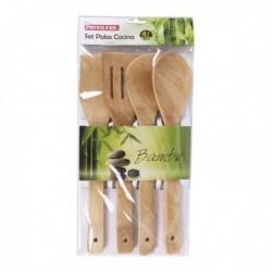 Set d'Ustensiles de cuisine Privilege bambou (4 pièces)