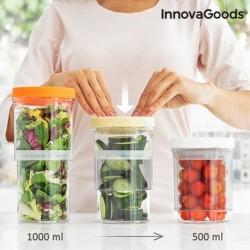 Récipients de Cuisine réglables et hermétiques Innovagoods (set de 3) fonctionnels