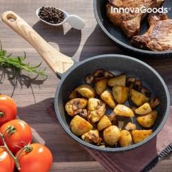 Poêle Premium Effet Granite InnovaGoods (20cm) fonctionnelle