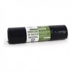 Sacs à ordures Eco Green Time 100 Noir (10 pièces)
