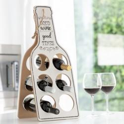 Porte-Bouteilles Pliable en Bois Good Wine élégant